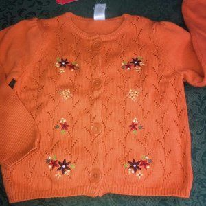 NWT harvest leaves cardigan 6 gymboree sweater
